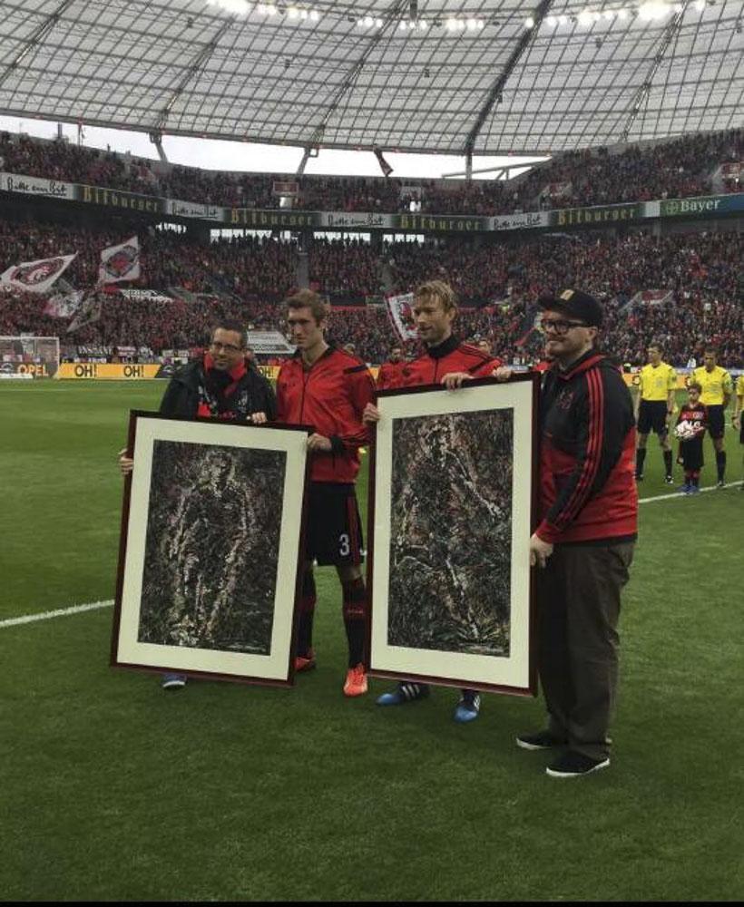 Stefan Reinartz & Simon Rolfes of Bayer Leverkusen
