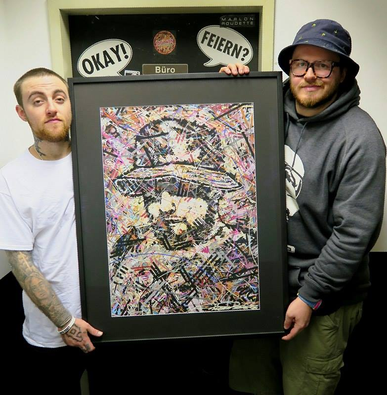 Mac Miller , mac miller nation , artwork , art , ivan beslic , artisbullshit