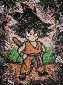 Son Goku , Dragonball , Japan , Ivan Beslic , artprint