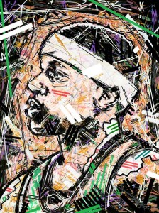 Isaiah Thomas , Boston Celtics , it4 , NBA Art , Ivan beslic , Basketball , Portrait