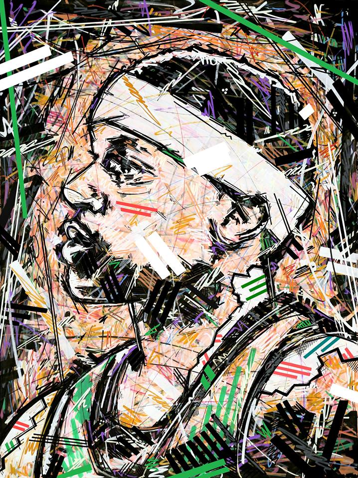 Ivan Beslic , Artisbullshit , artwork , art , It4 , Isaiah Thomas / Boston Celtics , NBA , Basketball