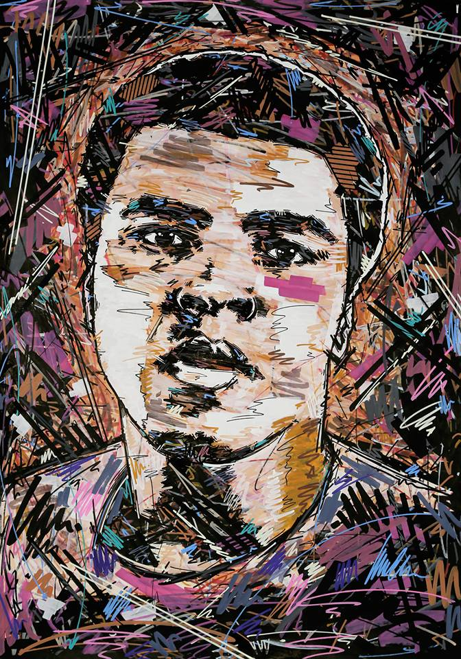 Muhammad Ali , Muhammed Ali , Worlds greatest , Boxing , Visual Art , Boxing Legend , Ivan Beslic , Artisbullshit , artwork , art