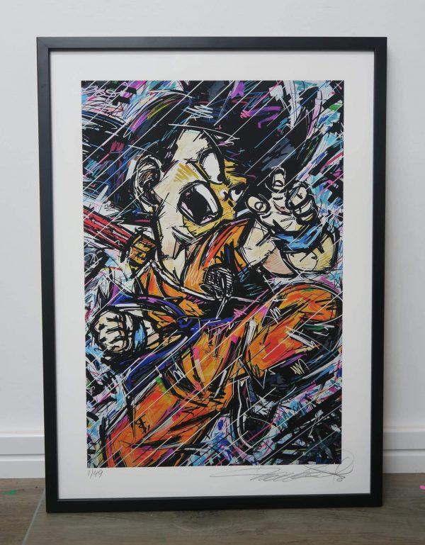 son goku, dragonball , anime , anime art , manga art , artisbullshit , young goku , ivan beslic , ivan beslic art , kamehameha