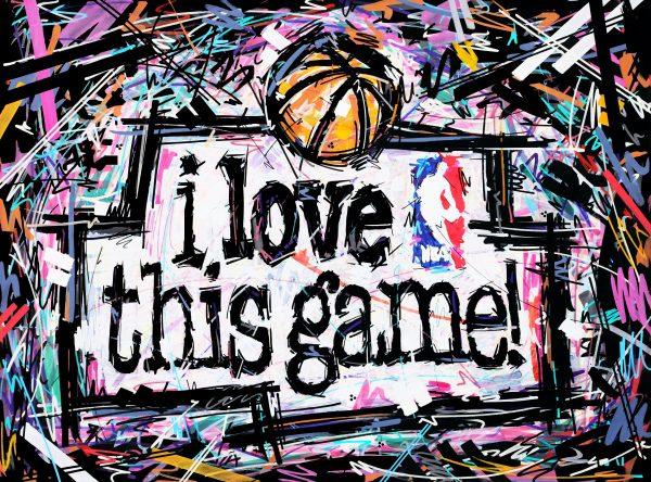 i love this game , nba , never not ballin , love for the game , luv 4 da game , nba art , ivan beslic , artisbullshit